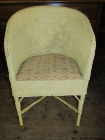 lloyd Loom style conservatory garden room chair, can paint