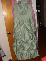 Light Green Maid of Honor dress