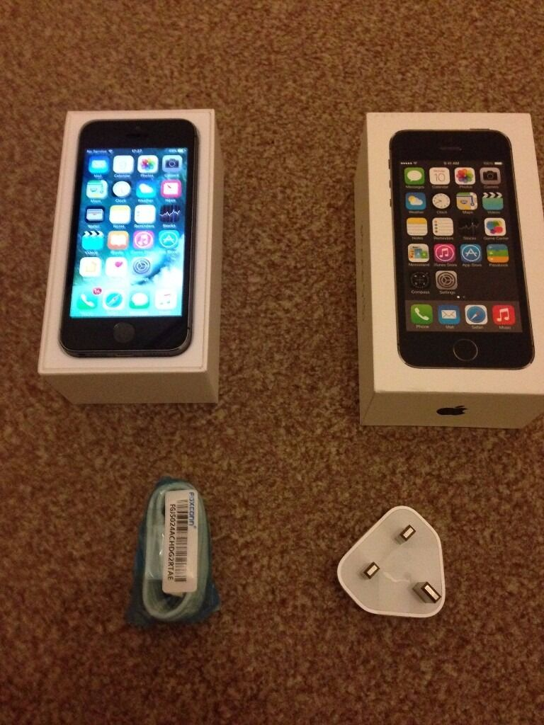 Apple Iphone 5s 16 gb grey and black EE Virgin immaculate with boxin Gorgie, EdinburghGumtree - For sale Iphone 5s 16 gb in grey and black in immaculate condition. ..fully working and excellent battery life Only very few scratches on LCD and body barely noticeable Locked to EE Asda Virgin Tmobile but can be unlocked very cheap Comes with box...