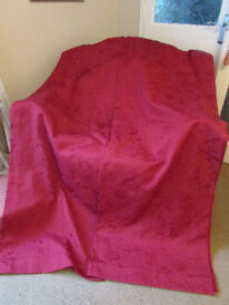 Gorgeous Red Medium Weight Lined Curtains 54in(W)X72in(L)In REDUCED TO CLEAR!