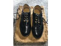 Ghille brogue black leather