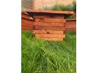 Rustic Square Wooden Planter