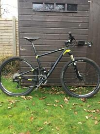 Full suspension mountain bike £750.