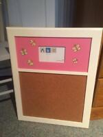 Girls Butterfly Lamp and Butterfly Cork Board