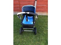 Ice blue bugaboo Cameleon buggy/ pram with all accessories