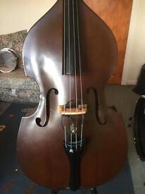 3/4 double bass.
