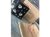 Men's Christian Louboutin black embellished bi-fold leather wallet