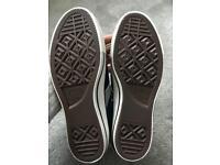 Converse high top shoes navy felt material uk size 8.5