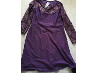 Dark purple dress size 12 brand new with tags sparkly lace detail