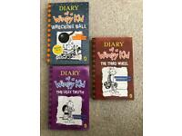3x Diary of a wimpy kid books