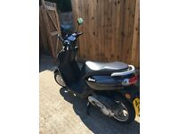1 year old Peugeot Kisbee moped 50cc with under 50 miles on clock