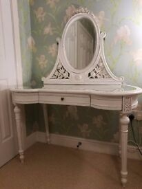 Chateau Antique White French Glazed Dressing Table