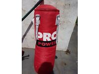Pro power punch bag and bracket never been used