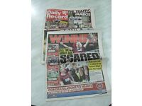 Heart of Midlothian - Daily Record Edition Reporting On Scottish Cup Win on 19 May 2012
