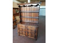 SOLID OAK COUNTRY FARMHOUSE DRESSER BY BRIGHTS OF NETTLEBED