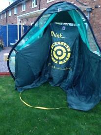 Practice golf tent