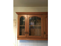 Kitchen Cabinets with stained glass panels