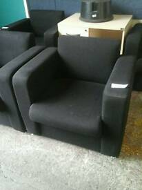 Black fabric reception chairs (4 available)