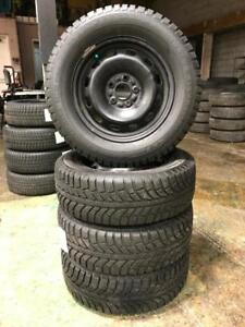205 65R 15 CHAMPIRO ICE PRO GT RADIAL WINTER SNOW TIRES & RIMS 5X108 FORD FOCUS 10/32NDS EXCELLENT CONDITION