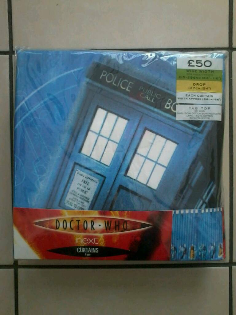 Doctor Who Curtains Brand New