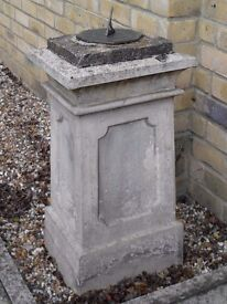 Antique 19thC Sandstone Pedestal & Sundial . £1,100 or offers. Sandstone not a modern reproduction.