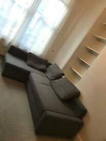 Grey IKEA corner sofa bed
