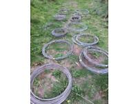 Various rolls of galvanised fencing wire