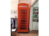 Full size replica British telephone box