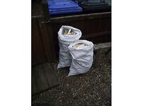 Large sack of kindling.
