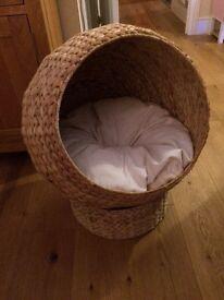 Banana leaf cat bed/pod/sleeping den