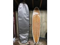 "7ft 5"" Mini Mal Surfboard + bag + leash"