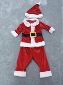 Baby santa outfit size 3-6 months