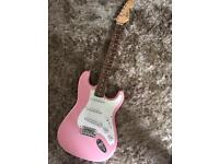 Fender squier Strat bullet electric guitar and case