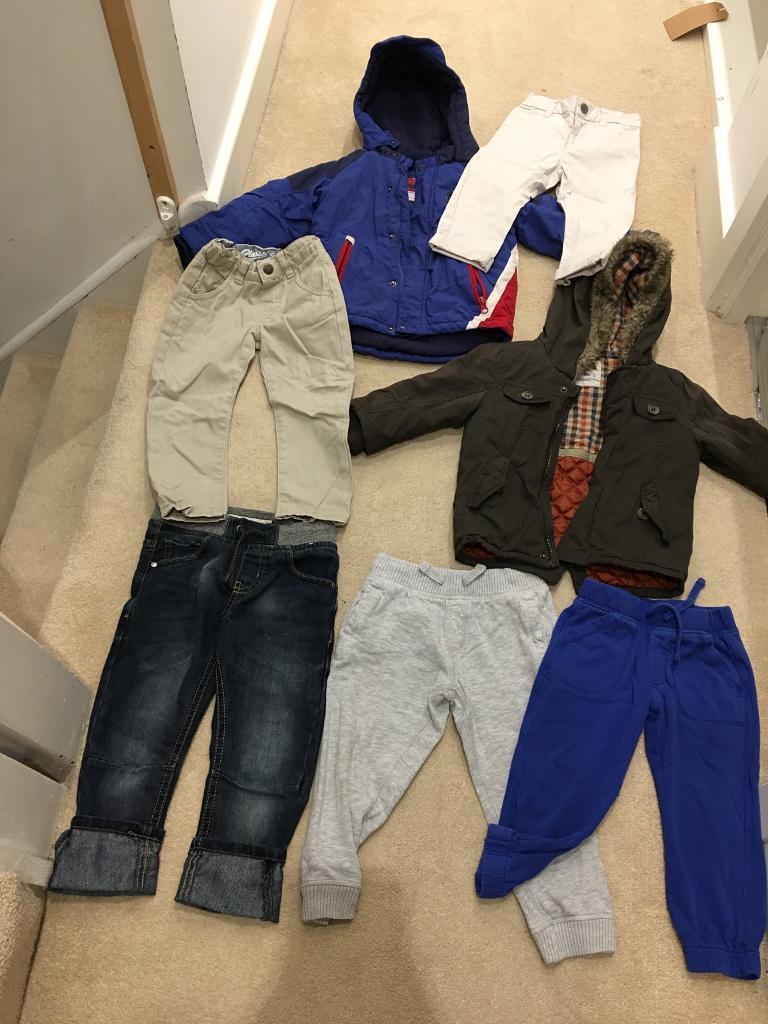Boys under 3 clothing bundle coats trouser tshirts shorts