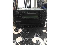 Vw radio and 6 disc changer. Double din