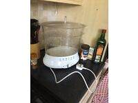 Food steamer for healthy diet