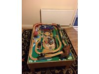 Play table wooden train set