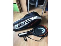 Tennis kit with racket and bag