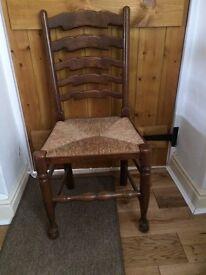 Four Hardwood Chairs