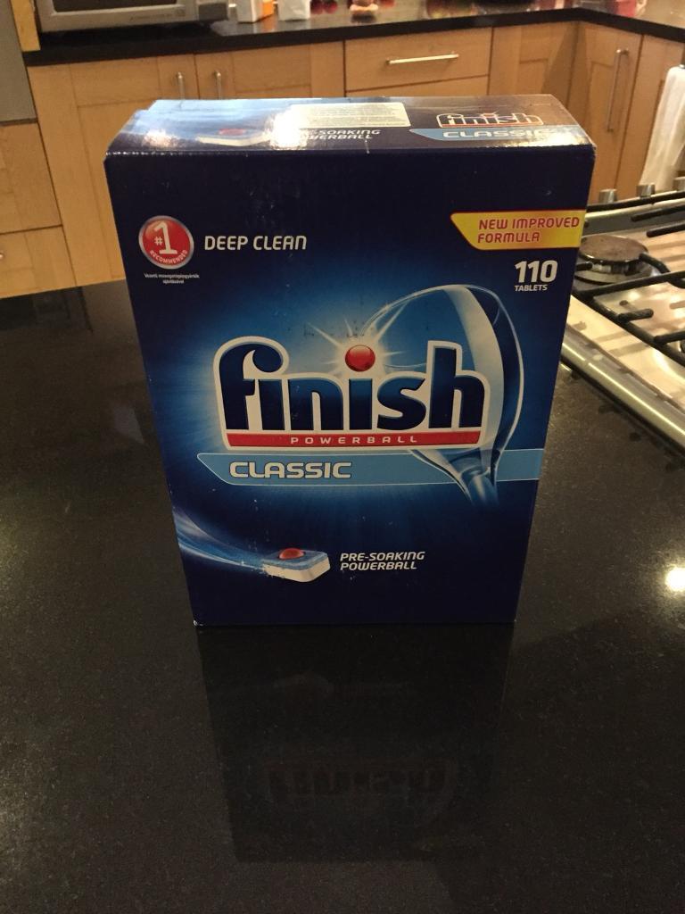 110 Finish dishwasher tablets brand new unopened