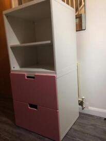 Ikea pink and white chest of drawers cabinets
