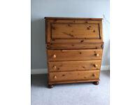 Ducal solid pine bureau writing desk