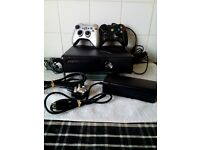 XBOX 360 S, 320 GB,CONSOLE, 2 CONTROLERS, 8 GAMES, & ALL LEADS,EXC CON, £50
