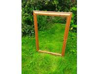 Solid pine rectangular mirror