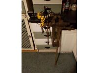 Dewalt hammer drill .....blacksmith vice both in great shape
