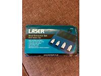 Laser 3734 Stud Extractor Set Short Series 4pc new