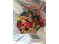 Bag of wooden blocks