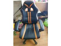Padded gaming/computer chair , orange and black
