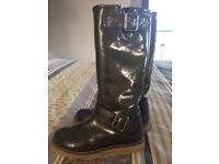 Girls Garvalin boots (grey) size 12.5