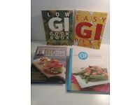 4 Diet recipe books. 3 are GI based and one is GL.